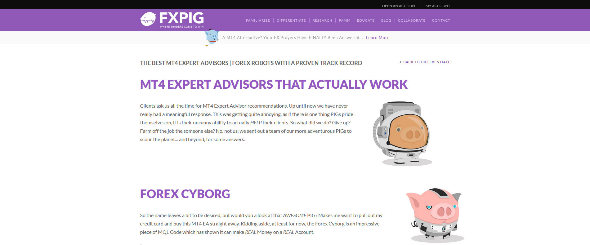 Forex Cyborg Recommended by FXPIG